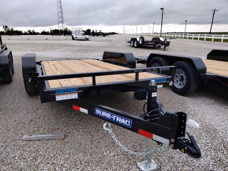 2020 Sure-Trac 7x16 Tilt Bed Equipment Trailer 14K