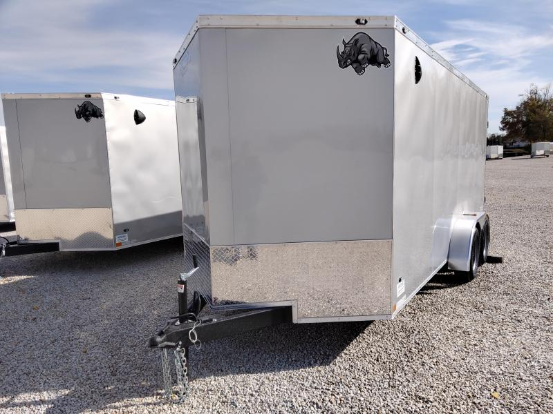 2020 Rhino Safari 7x16 Enclosed Double Rear Door 7K Trailer