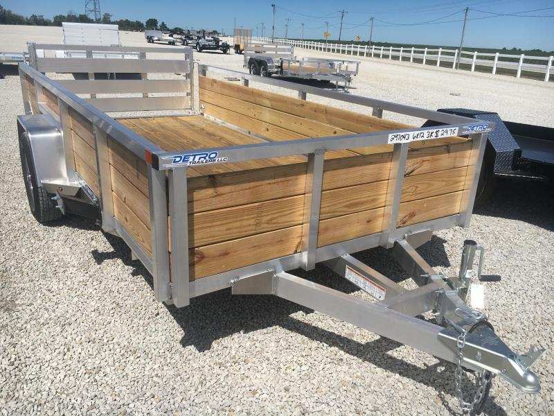 2021 Sure-Trac 6x12 Aluminum Tube Top Three Board  High Side 3K Trailer