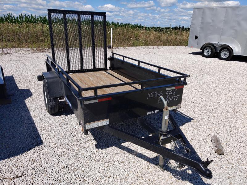 2015 Sure-Trac 54X8 STEEL HIGH SIDE Utility Trailer