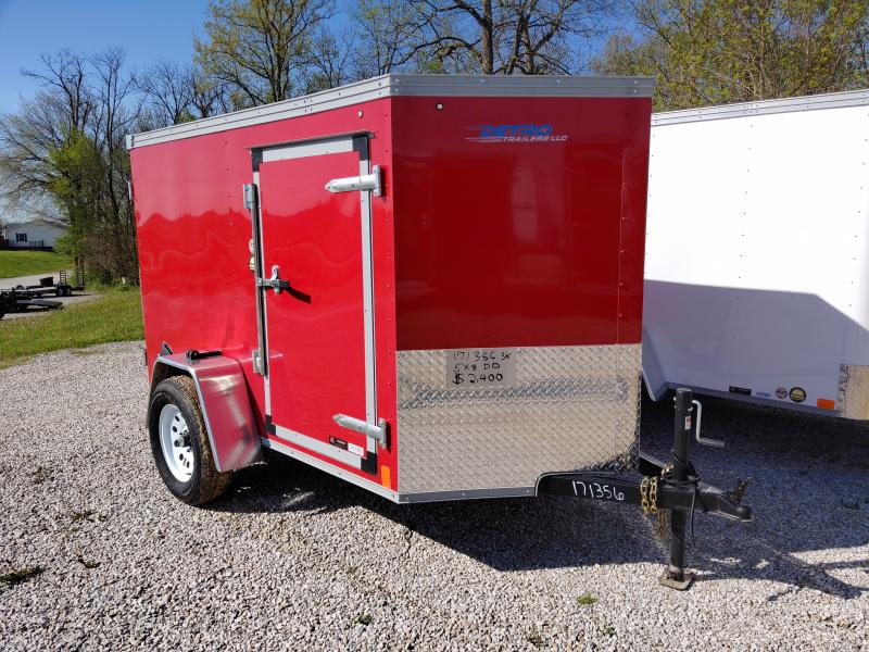 2020 United 5X8 Enclosed Double Rear Door Trailer