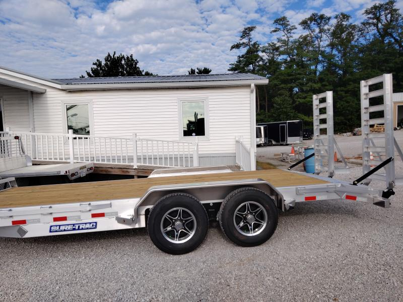 2021 Sure-Trac 82X16+2 Aluminum 10K Equipment Trailer