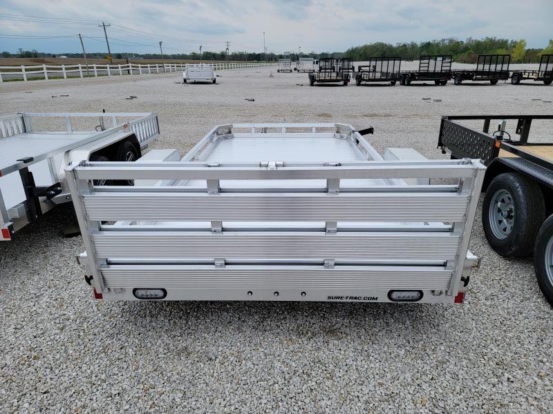 2021 Sure-Trac 7x14 Aluminum Low Side 3K Utility Trailer