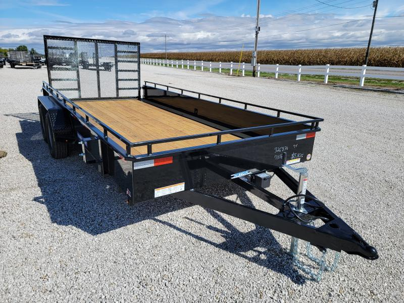 2022 Sure-Trac 7x16 7K Tandem Steel High Side Trailer