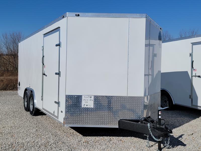 2021 Rhino Trailers 8.5X18 Rear Ramp Door 10K Enclosed Trailer