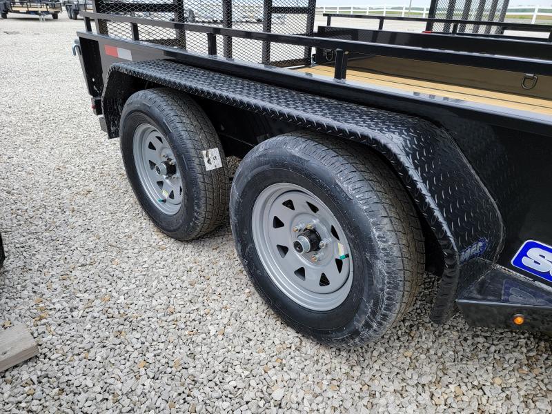 2021 Sure-Trac 7x12 Steel High Side 7K Tandem Trailer