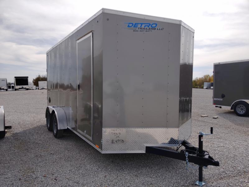 2021 Cargo Express 7X16 Enclosed Ramp Door 7K Trailer