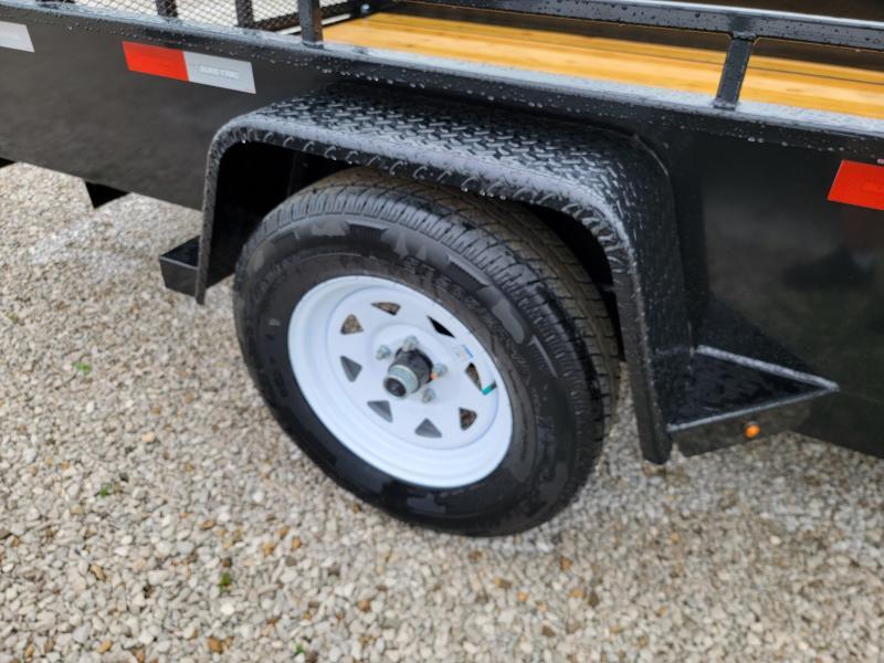 2021 Sure-Trac 7x12 Steel High Side Trailer 3K Idler