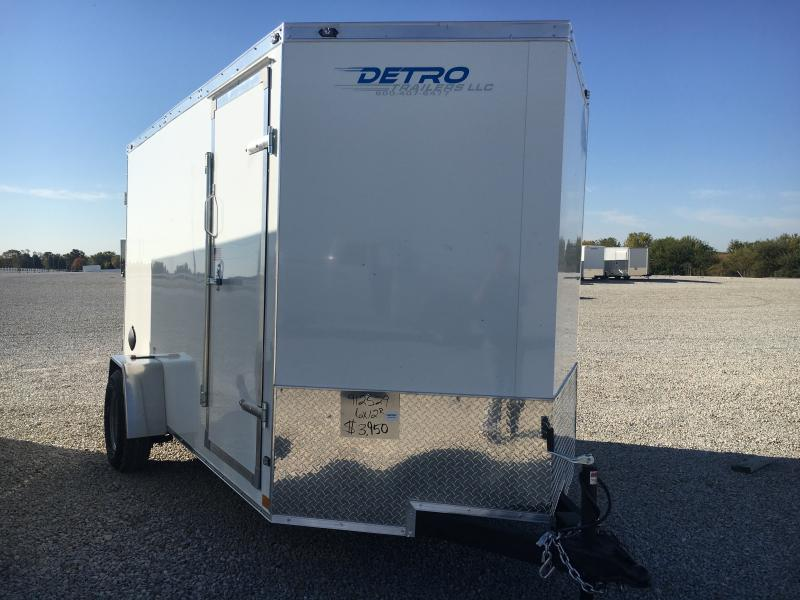 2021 Rhino Cub 6x12 Enclosed Ramp Door 3K Trailer