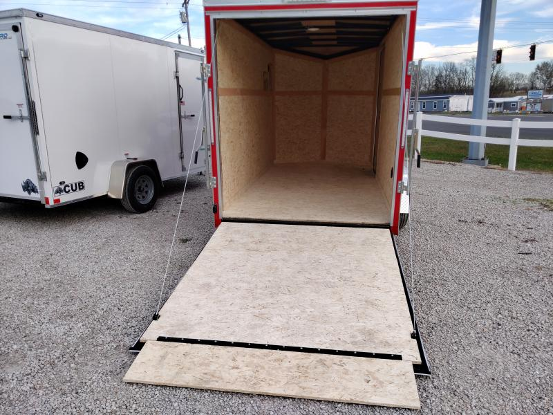 2021 Cargo Express 6x12 Enclosed Ramp Door Trailer