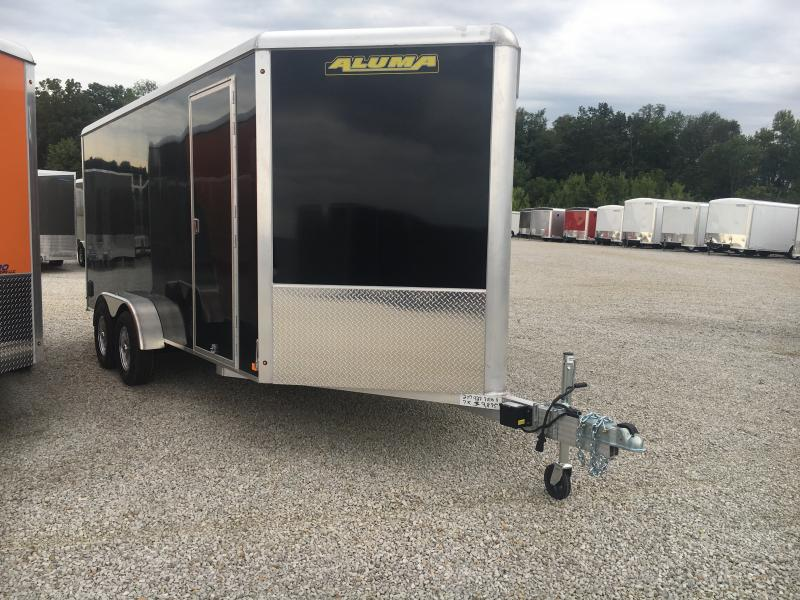 2020 Aluma 7X16 Enclosed Ramp Door TA Trailer