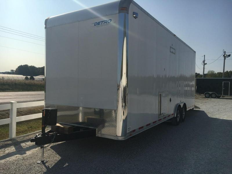 UNIQUE TRAILER -- 2014 Vintage Trailers 8.5x26 Enclosed Powered Ramp Door 12K Trailer