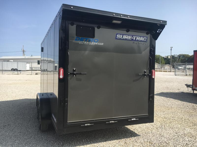 BLACKED OUT EDITION -- 2021 Sure-Trac 7x14 Pro Series Wedge Cargo TA 7K Trailer