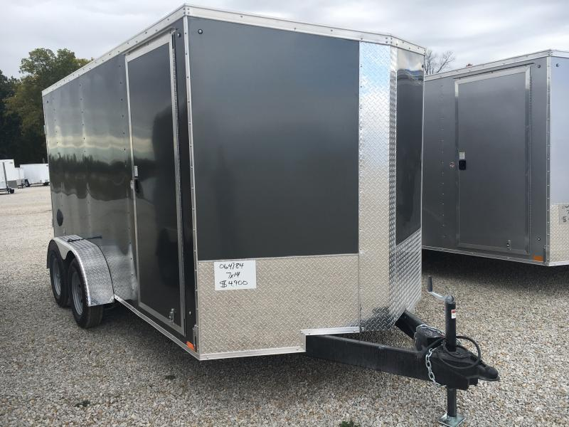 2021 Cargo Express 7X14 Enclosed Swing Door Trailer