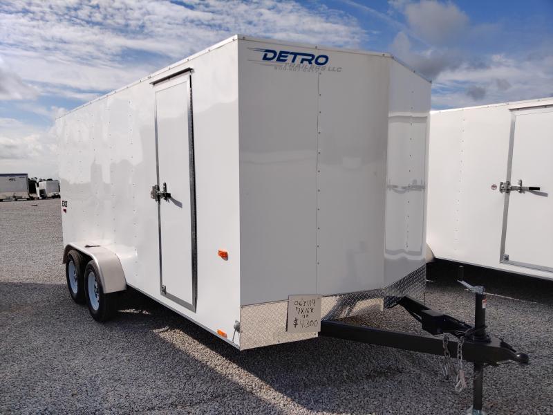 2021 Cargo Express 7X16 TA 7K Ramp Door Enclosed Trailer