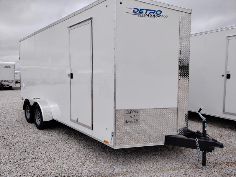 2021 Cargo Express 7X18 Enclosed Ramp Door TA Trailer