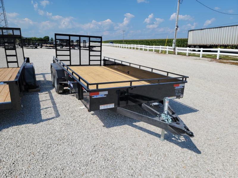 2021 Sure-Trac 7 x 16 7K Steel High Side Trailer