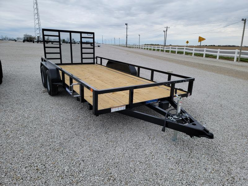 2021 Sure-Trac 7x16 Tube Top 7K Tandem Utility Trailer