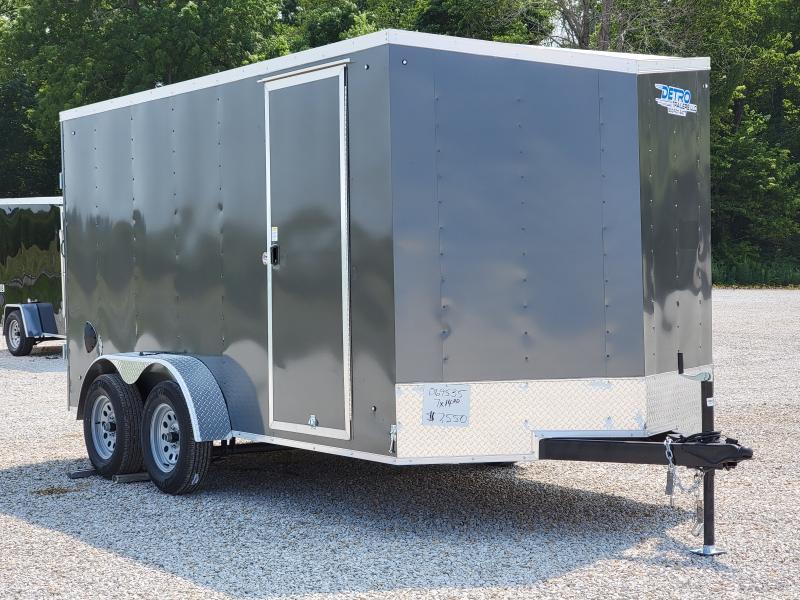 2022 Cargo Express 7x14 Double Rear Doors Enclosed Trailer