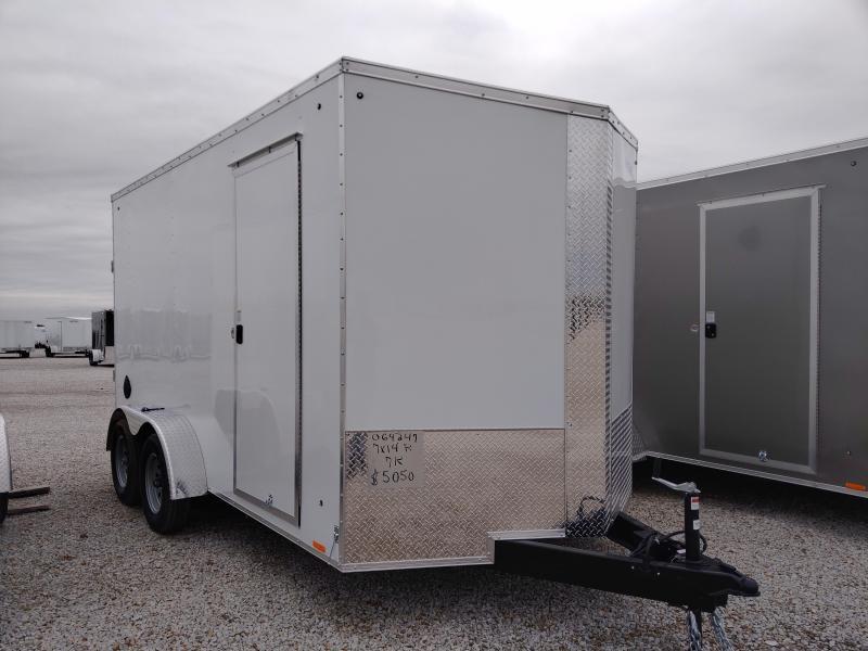 2021 Cargo Express 7x14 Enclosed Ramp Door Trailer