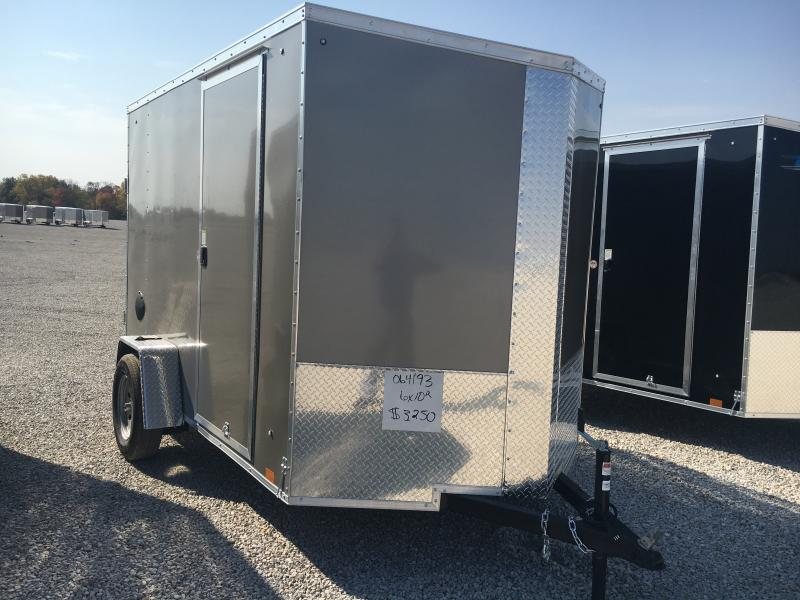 2021 Cargo Express 6X10 Enclosed Ramp Door 3K Trailer