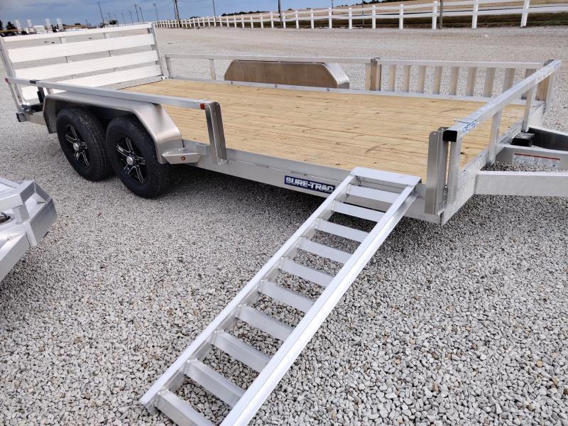 2021 Sure-Trac 7X16 Aluminum 7K ATV Trailer