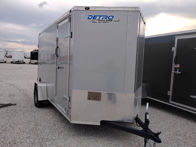 2021 Rhino 6x12 Rear Ramp Door Enclosed Trailer