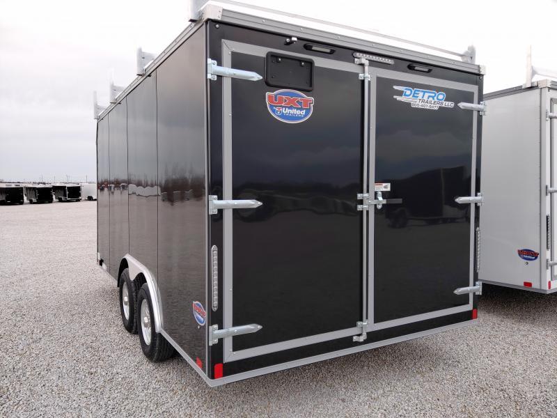 2021 United 8.5x16 Tool Crib 10K Enclosed Double Rear Door Trailer