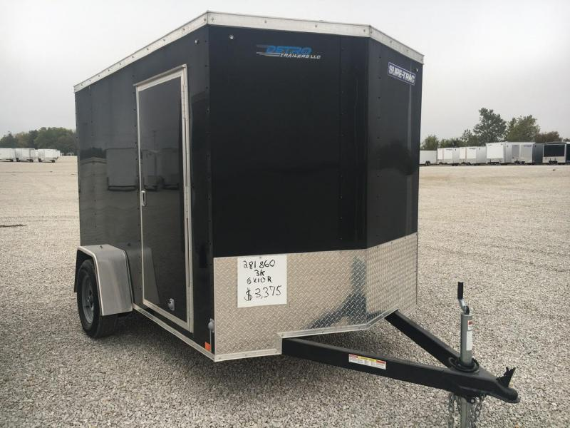 2020 Sure-Trac 6x10 Enclosed Wedge SA Ramp Door Trailer