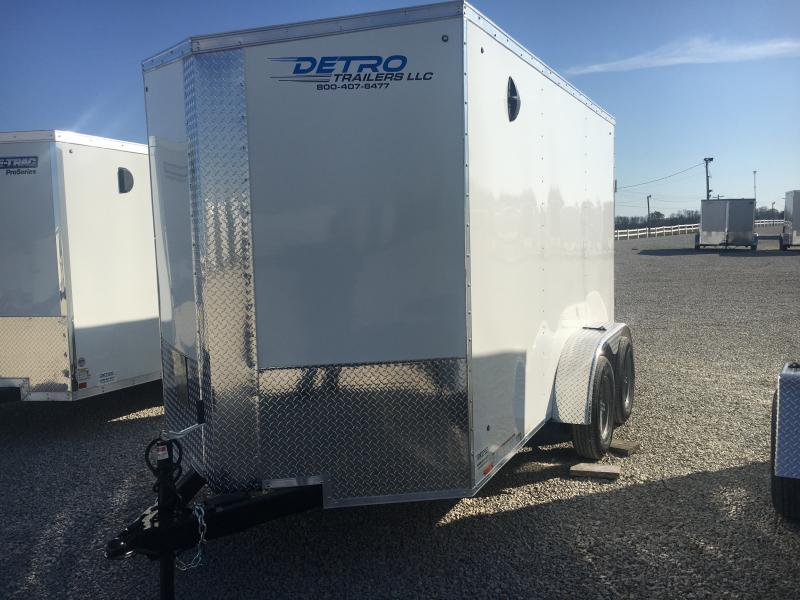 2021 Cargo Express 6x12 Enclosed Ramp Door Trailer