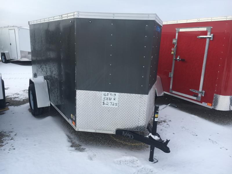 2019 United 5X10 Enclosed Ramp Door Trailer