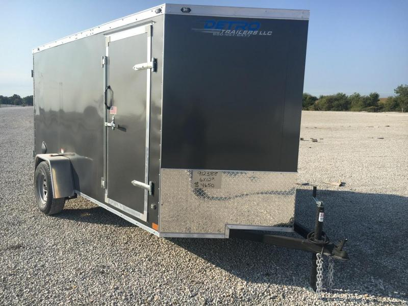NEW MODEL -- 2021 Rhino Trailers 6X12 Cub Enclosed Ramp Door Trailer