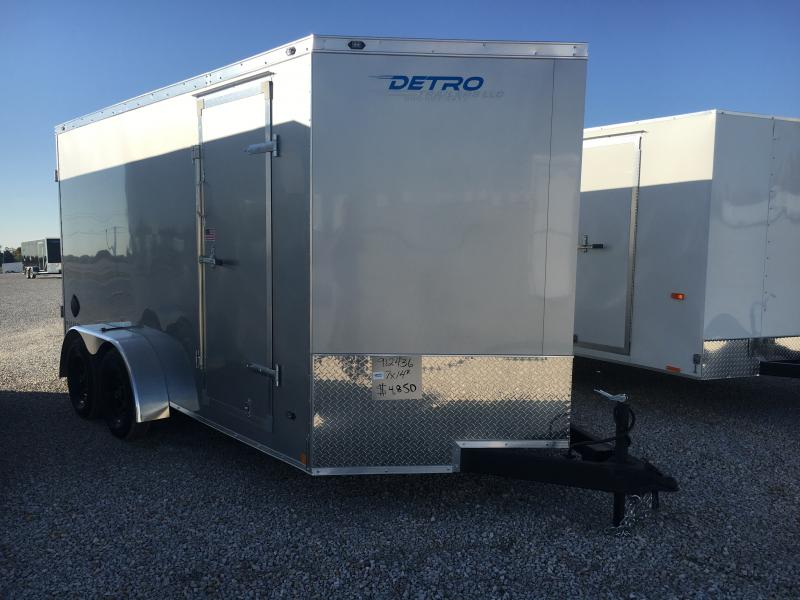 2021 Rhino Trailers 7X14 Enclosed Ramp Door 7K Trailer