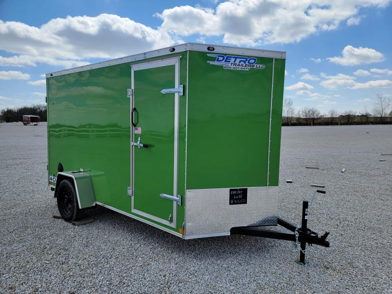 2021 Rhino Trailers 6X12 Rear Ramp Door Enclosed Cargo Trailer