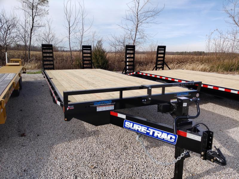 2021 Sure-Trac 8.5 x 20+4 Standard Duty Beavertail Deck
