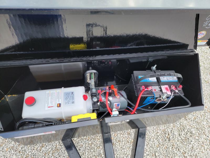 2021 Sure-Trac 6 X 10 SD Deckover Dump Trailer 7K Single Ram