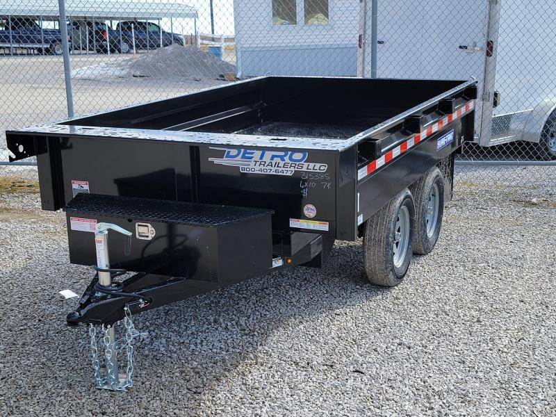 2021 Sure-Trac 6 X 10 SD Deckover Dump Trailer 7K Single Ram