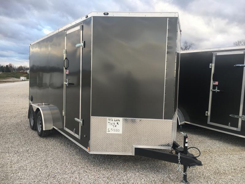 2021 Rhino Safari 7x16 Enclosed Double Rear Door Trailer