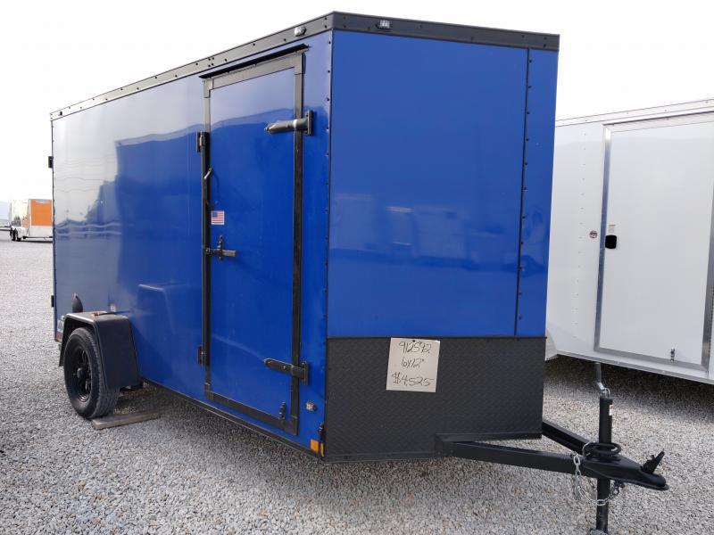 BLACK OUT PKG -- 2021 Rhino 6x12 Rear Ramp Door Enclosed Trailer