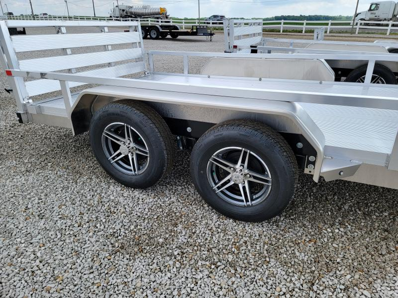 2021 Sure-Trac 7x14 Aluminum Tube Top 7K Tandem Axle Trailer