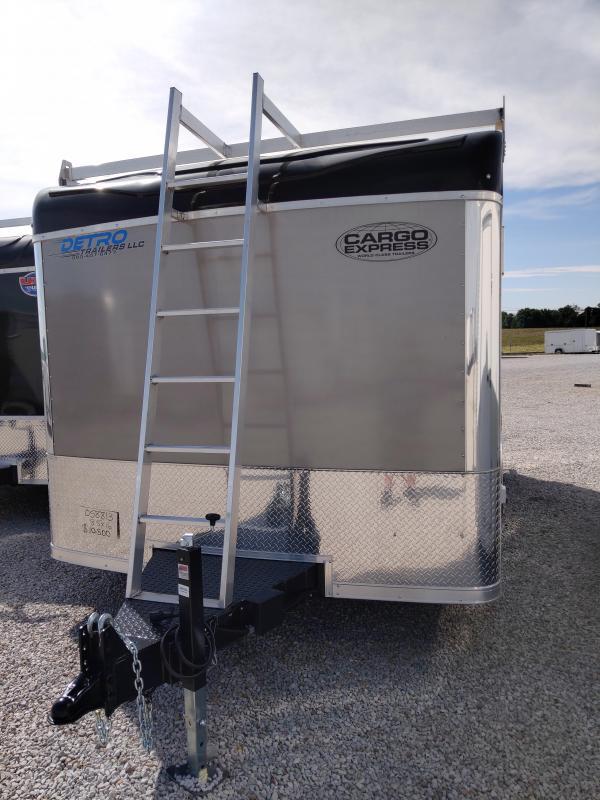 2021 Cargo Express 8.5X16 Tool Crib Enclosed 10K DRD Trailer w/ Ladder Racks