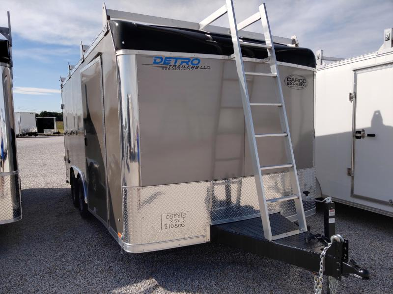 2021 Cargo Express 8.5X16 Tool Crib Enclosed 10K DRD Trailer w/ Ladder Racks