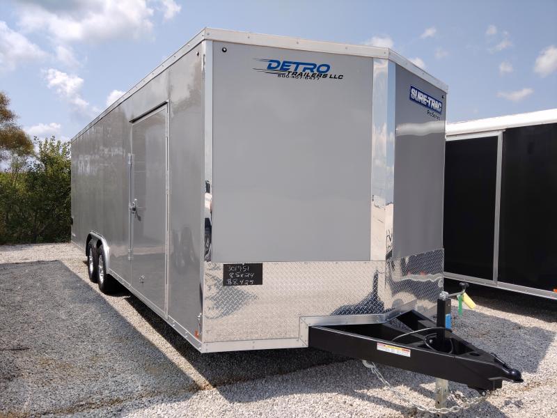2021 Sure-Trac 8.5x24 Pro Series Wedge Enclosed 10K Car Trailer