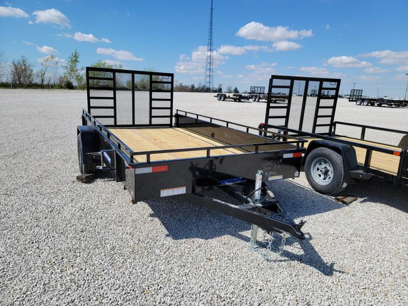 2021 Sure-Trac 7x14 Steel High Side 5K Trailer w/ Brakes