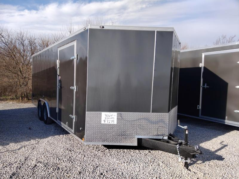 2021 Rhino 8.5x20 Rear Ramp Door 10K Enclosed Trailer