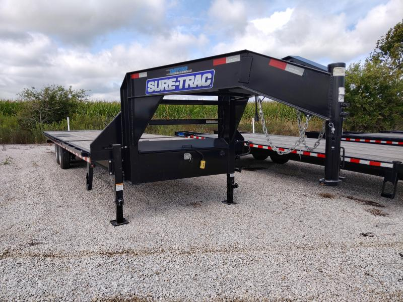 POWER TILT - 2019 Sure-Trac 102x22+8 Deckover Gooseneck 17.6K Equipment Trailer FACTORY DEMO