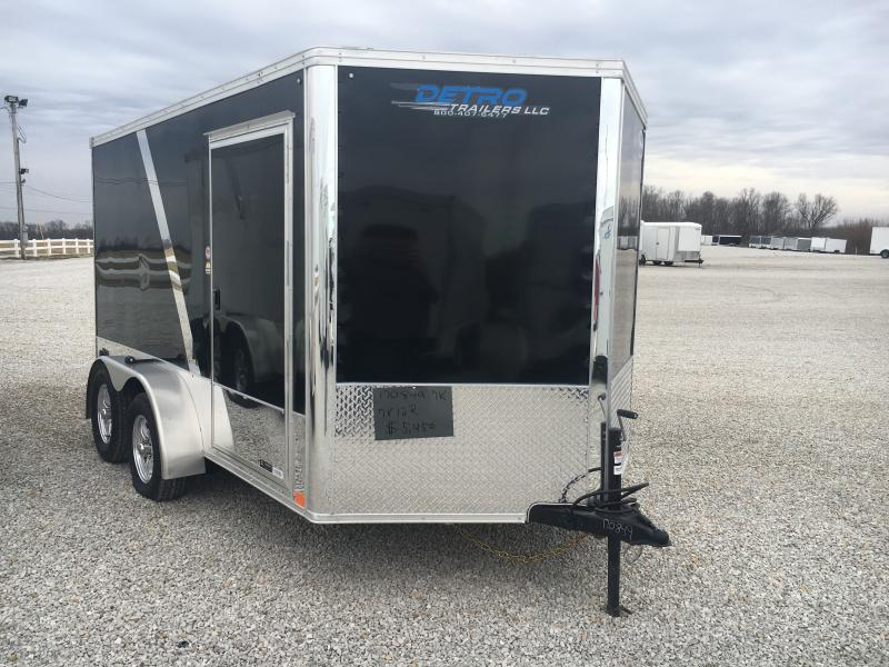 2020 United Trailers 7X12 Black Motorcycle Trailer