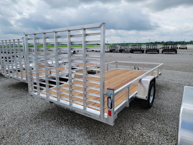 2021 Black Rhino Aluminum Wood Deck 7x14 Utility Trailer w/ Brakes