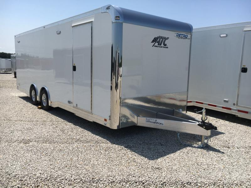 2020 ATC 8.5X24 White Aluminum Car/Racing Trailer