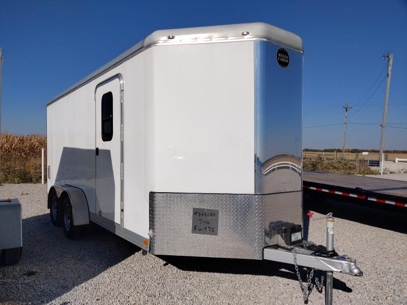 2017 Wells Cargo 7X16 Enclosed Ramp Door Trailer